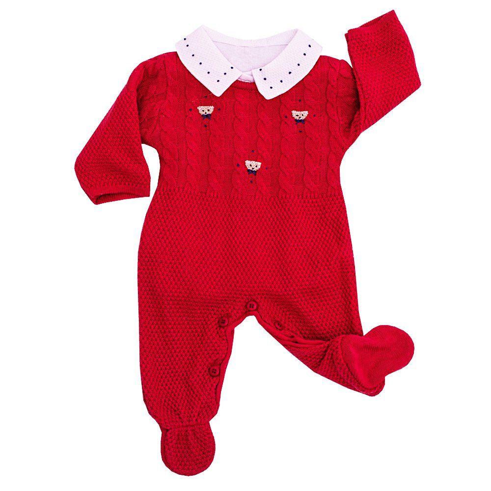 Conjunto bebê 3 peças - Vermelho