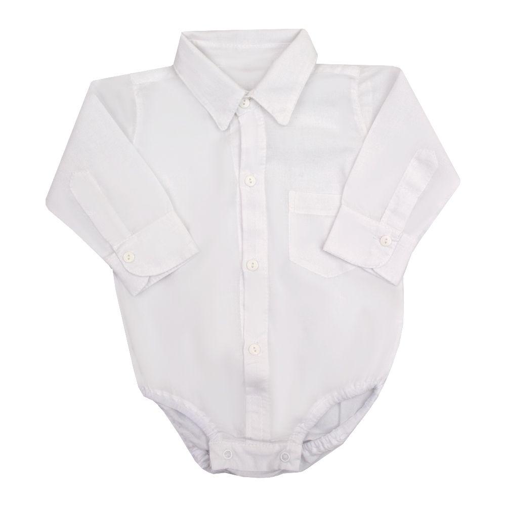 Conjunto bebê 4 peças masculino - Branco e bege