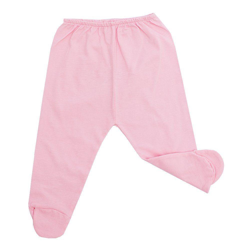 Conjunto bebê body com gola bordada de pérolas e mijão 2 peças - Branco/Rosa bebê