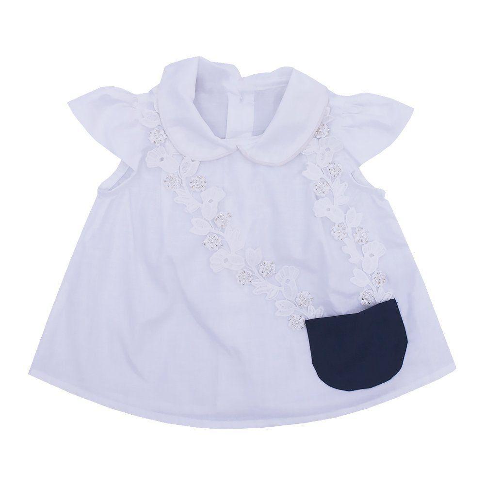 Conjunto bebê 2 peças - Azul marinho e branco