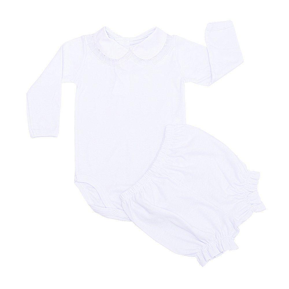 Conjunto bebê 2 peças - Branco