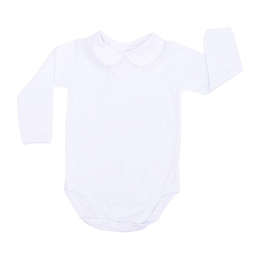 Conjunto bebê com body e short - Branco