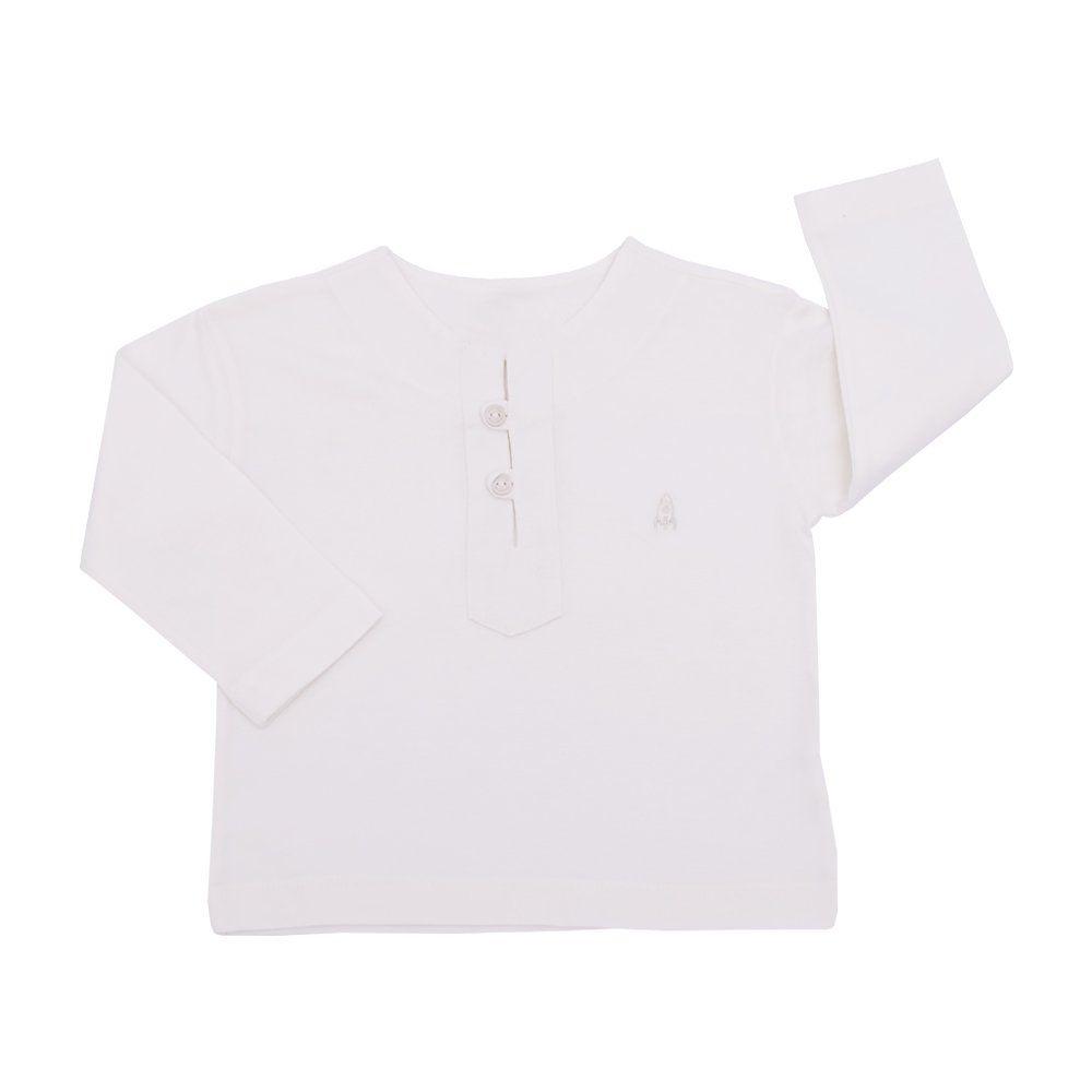 Conjunto bebê 2 peças - Off white e jeans