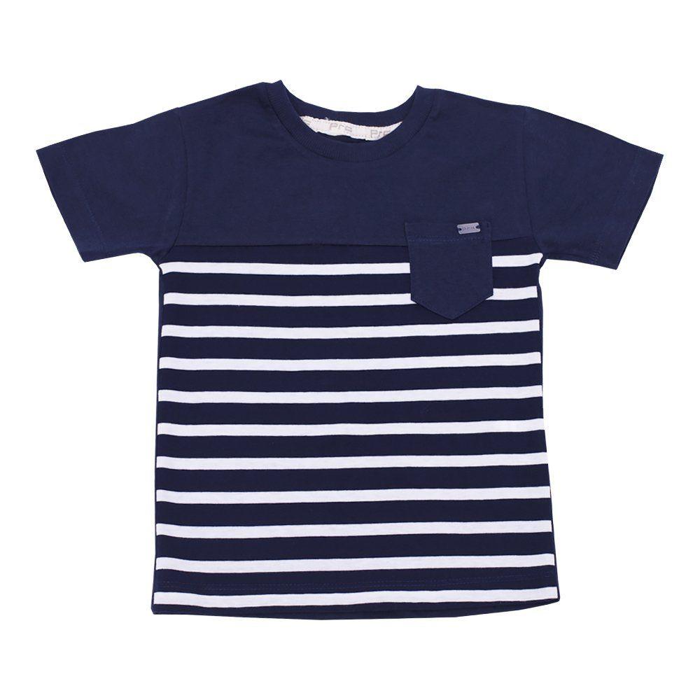 Conjunto bebê com camiseta e bermuda - Azul e verde
