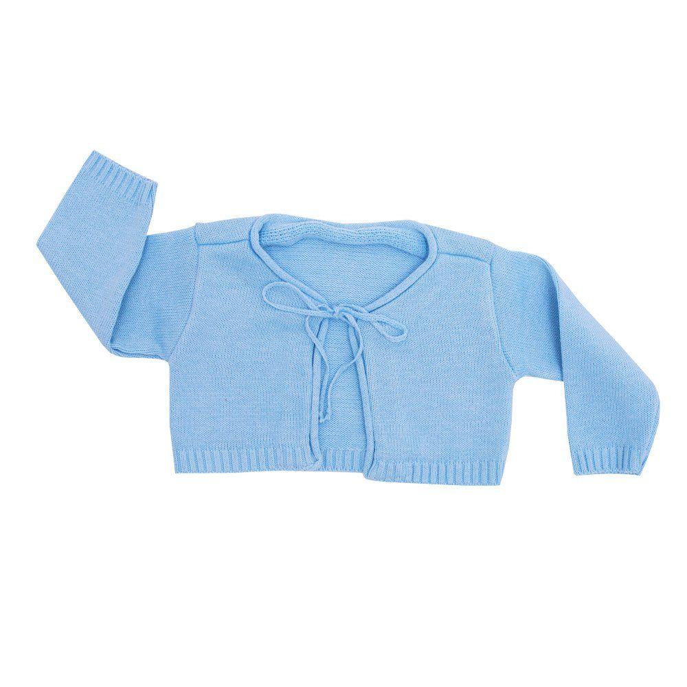 Conjunto bebê 3 peças - Azul e branco