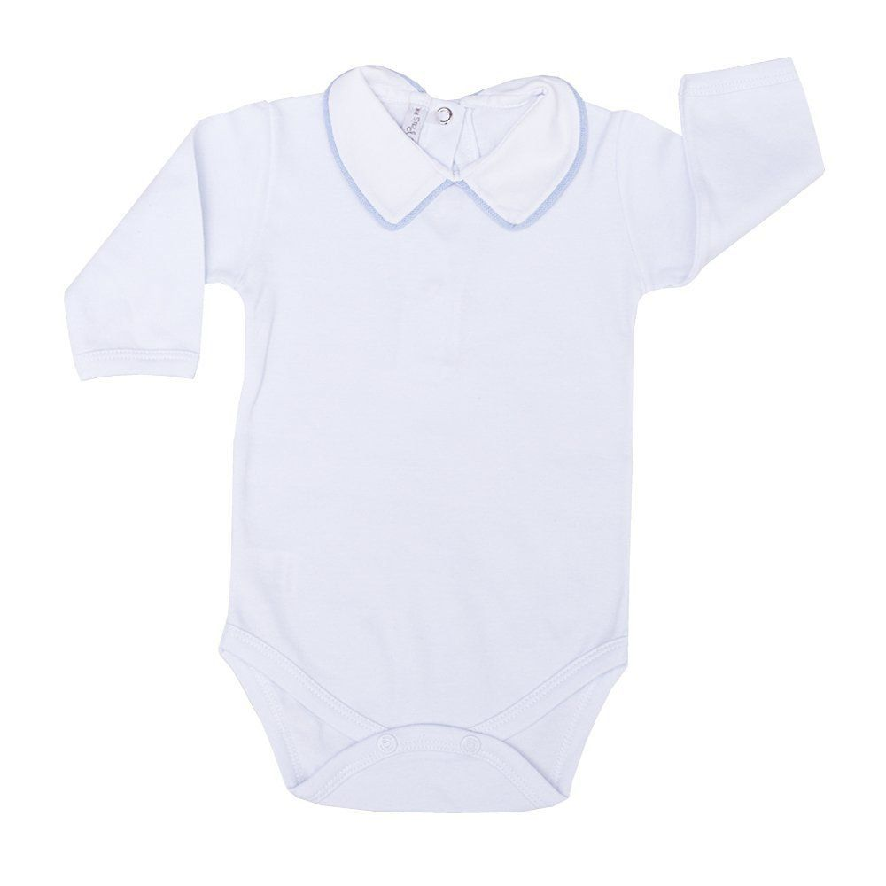 Conjunto bebê com macacão cavado, casaco e body - Branco