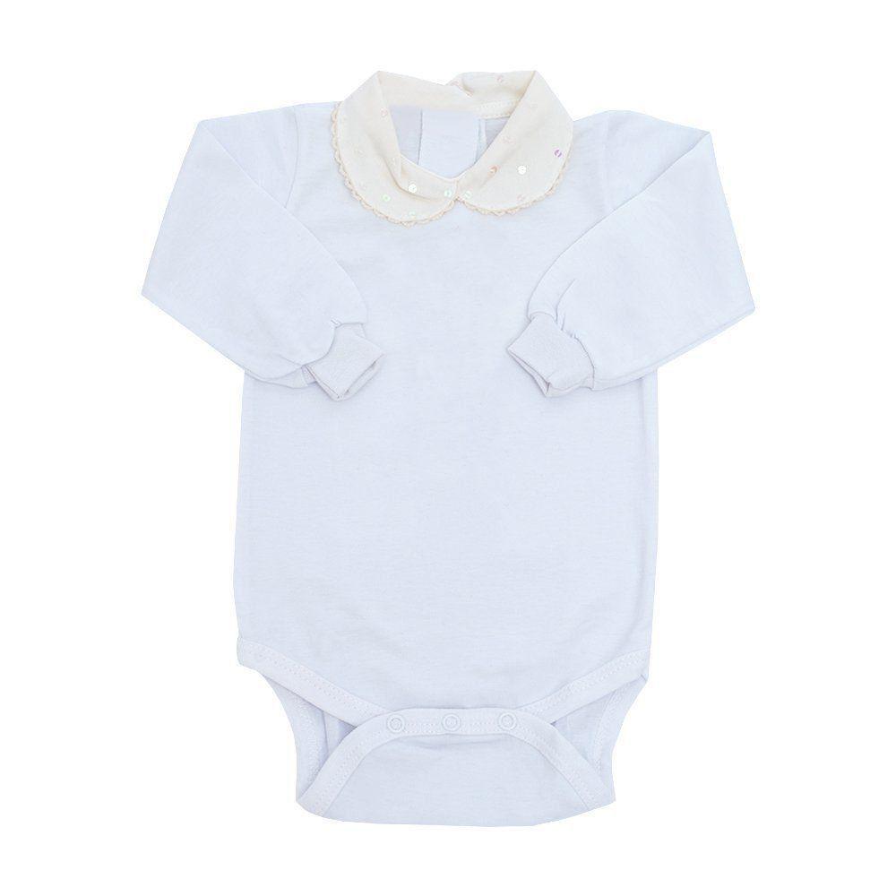 64cf28c7d ... Saída de maternidade feminina macacão e body - Marfim - Petit Pois  Enfant ...