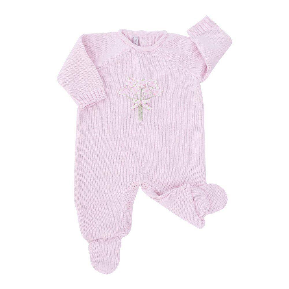 Conjunto bebê feminino 2 peças - Rosa bebê