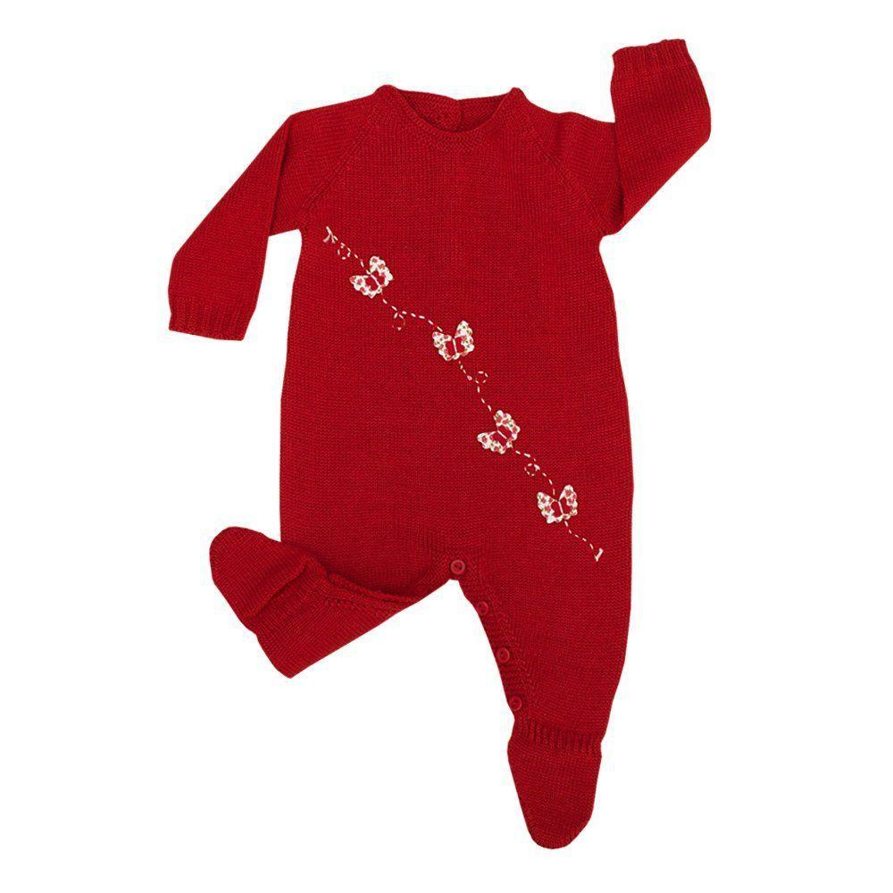 Conjunto bebê  feminino 2 peças - Vermelho