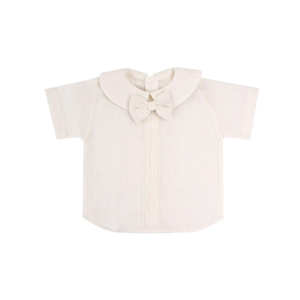 Conjunto bebê masculino 2 peças - Off white