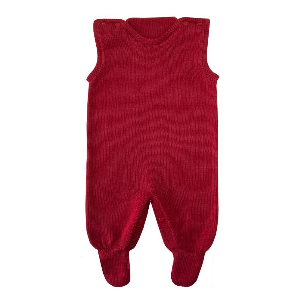 Conjunto bebê ursa marinheira jardineira e casaco - Azul marinho e vermelho