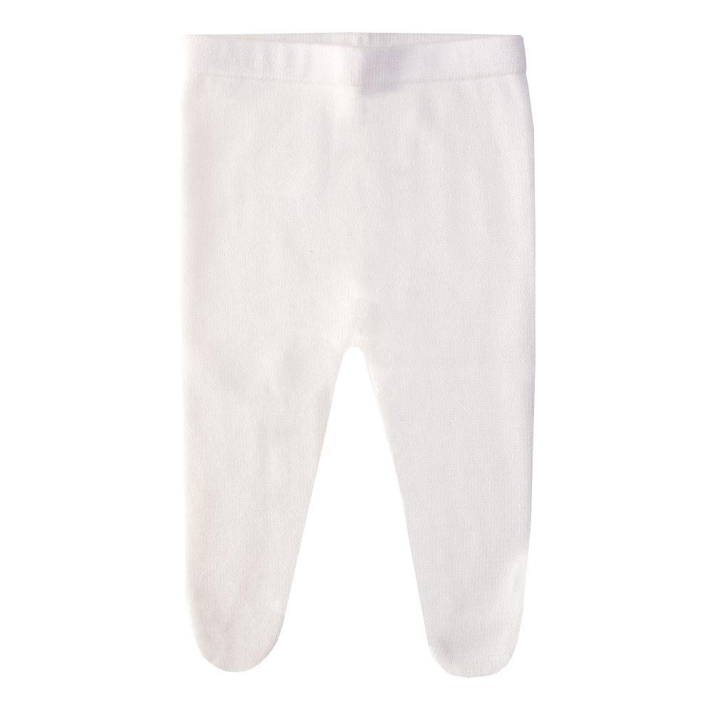 Conjunto bebê vestido e calça flor - Off white