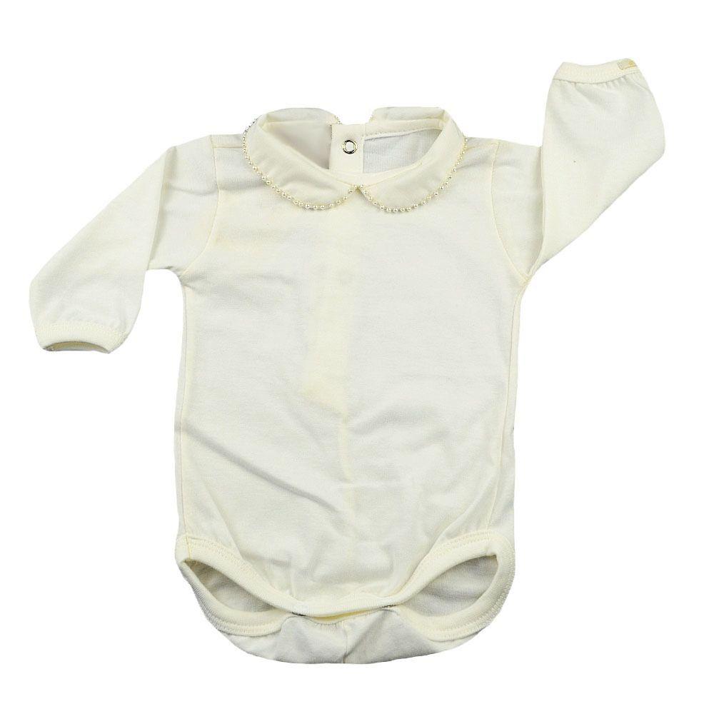 Conjunto bebê 3 peças - Marfim