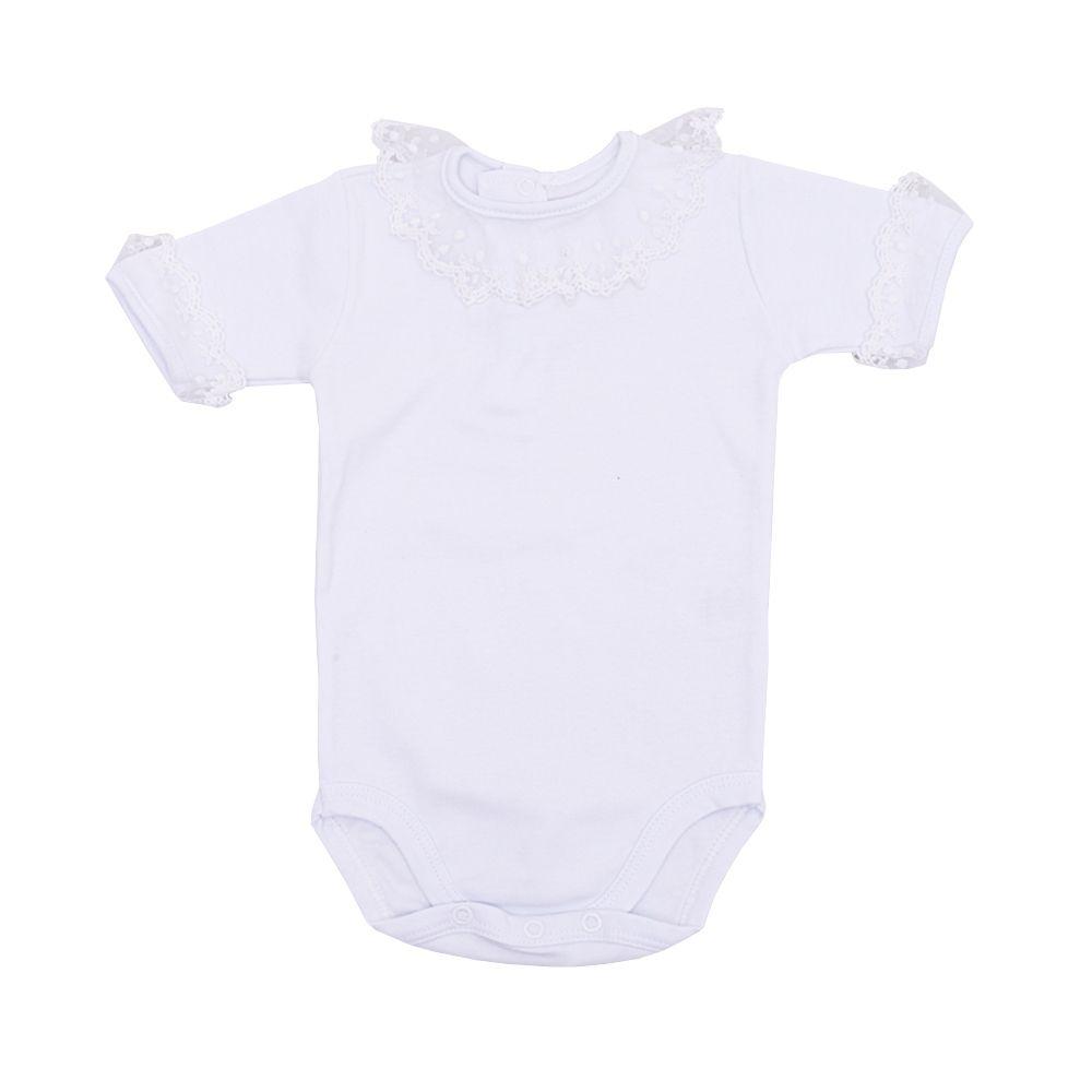 Conjunto bebê feminino 2 peças - Branco