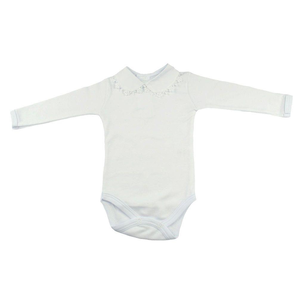 Conjunto bebê em tricot 4 peças - Branco e preto