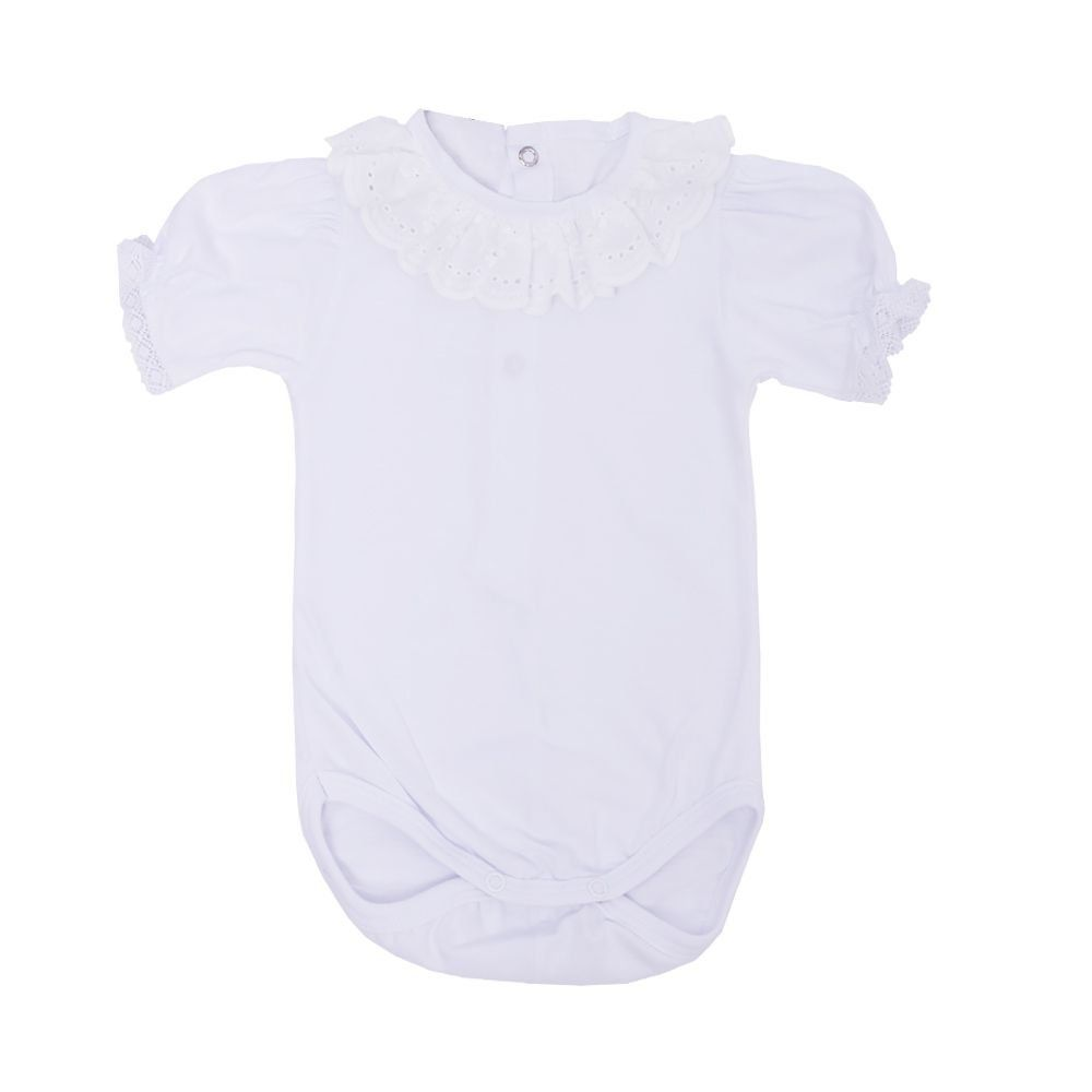 Conjunto bebê 2 peças - Off white e rosa