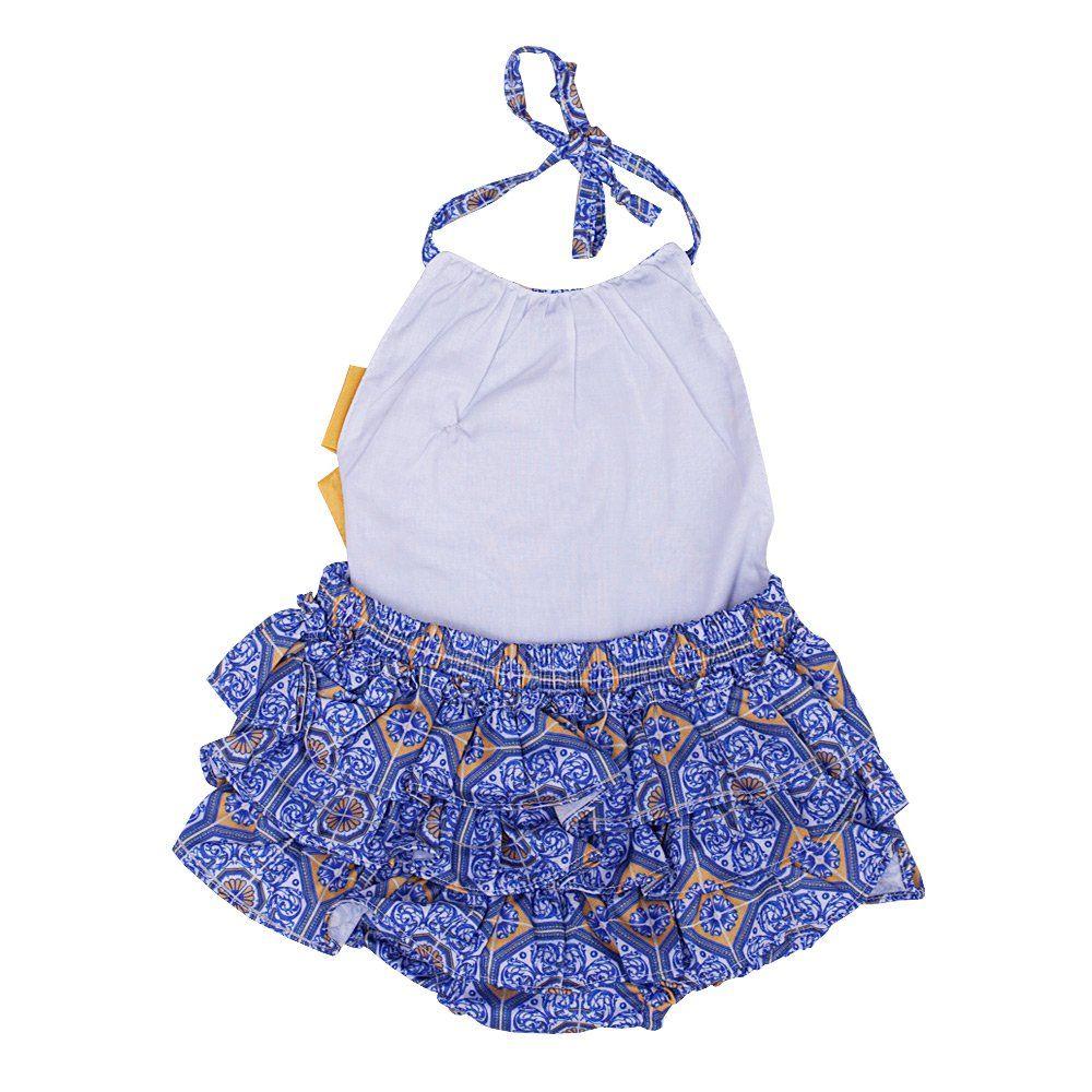 Jardineira bebê - Azul