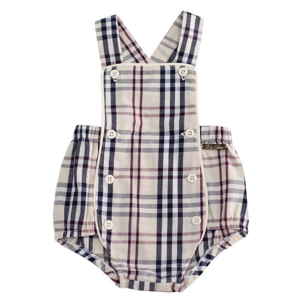 09e6647eb9c9e Jardineira bebê - Burberry inspired Venha conhecer nossa produtos e ...