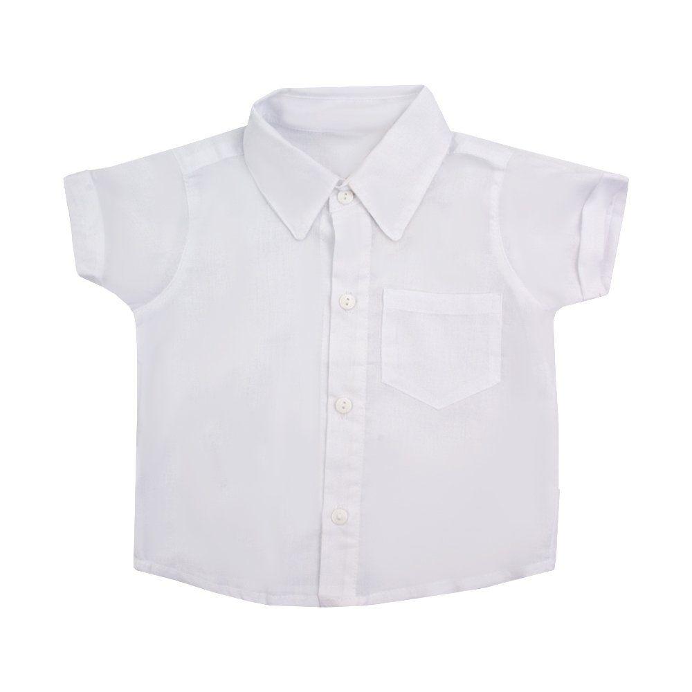 628ac51b41ef9 ... Jardineira bebê com camisa e boina - Bege e branco - Petit Pois Enfant  ...