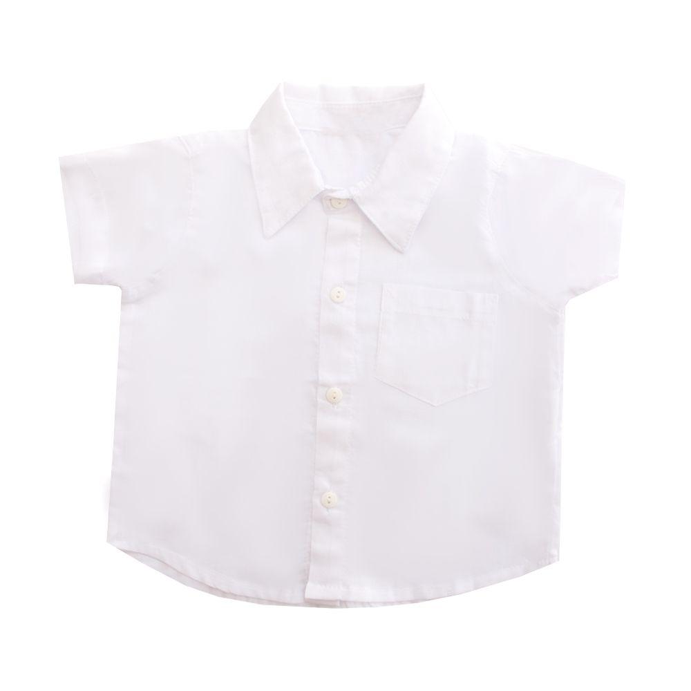 Jardineira bebê xadrez com camisa - Vermelho e branco