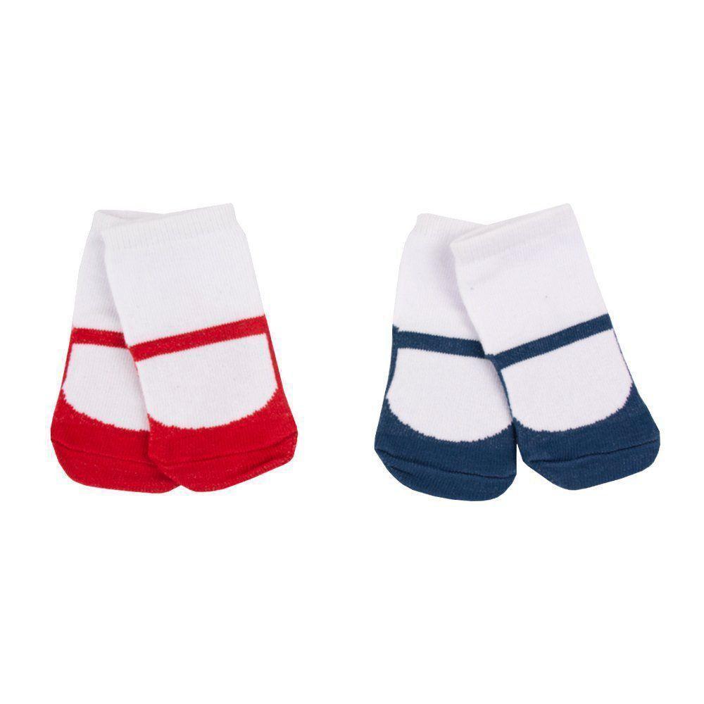 Kit meia bebê com 2 pares - Branco