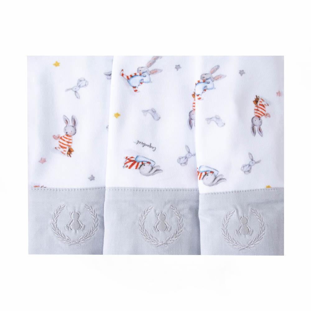Kit toalha de boca com 3 peças coelhinho - Branco