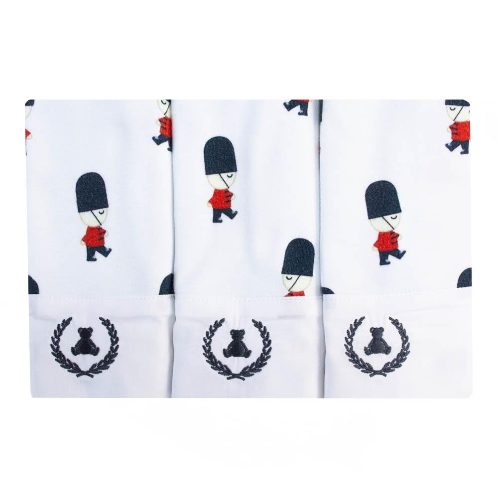 Kit toalha de boca com 3 peças soldadinho - Branco