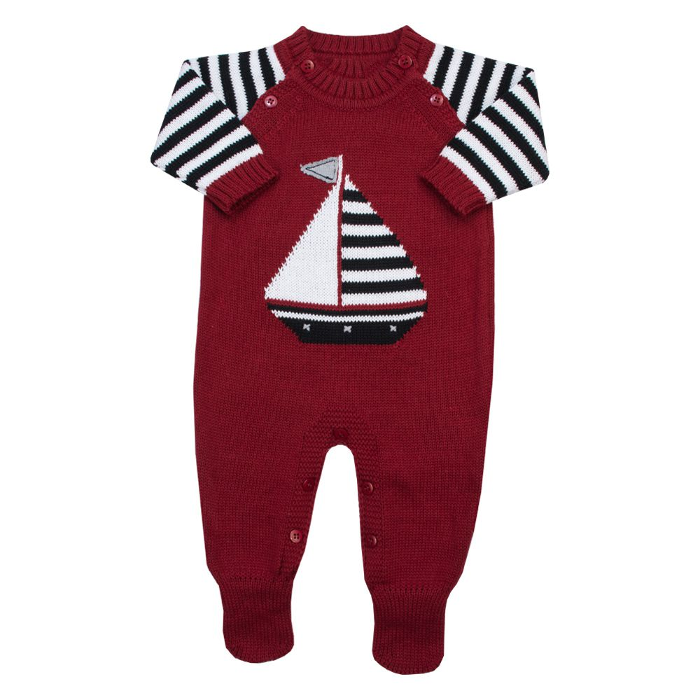 Macacão bebê barquinho - Vermelho