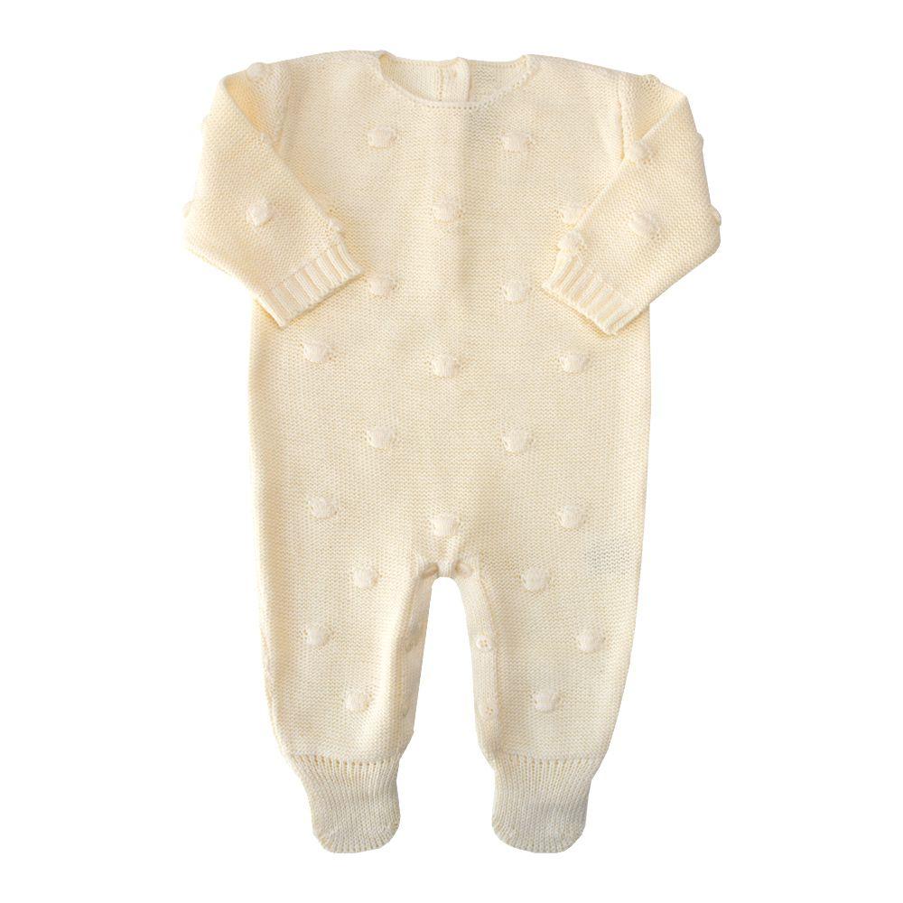 Macacão bebê bolão - Amarelo bebê