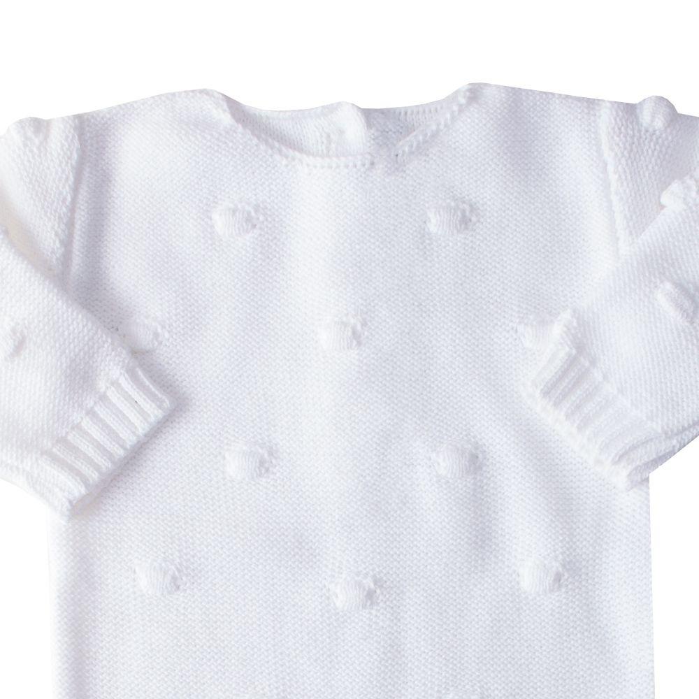 Macacão bebê bolão - Branco