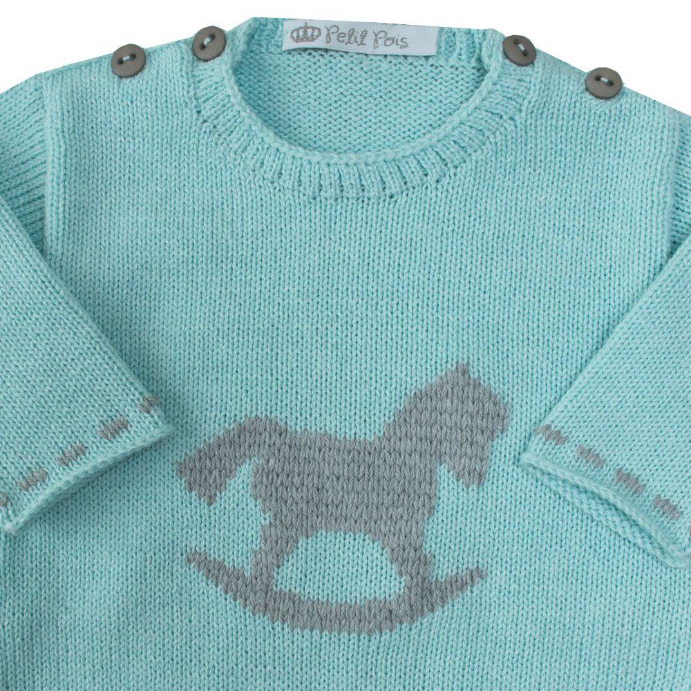 Macacão bebê cavalinho - Menta