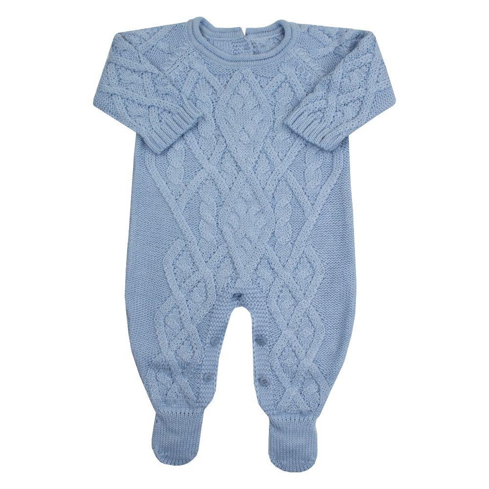 Macacão bebê cedrilho - Azul bebê