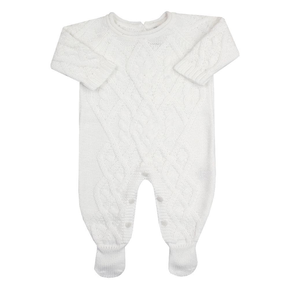 Macacão bebê cedrilho - Branco