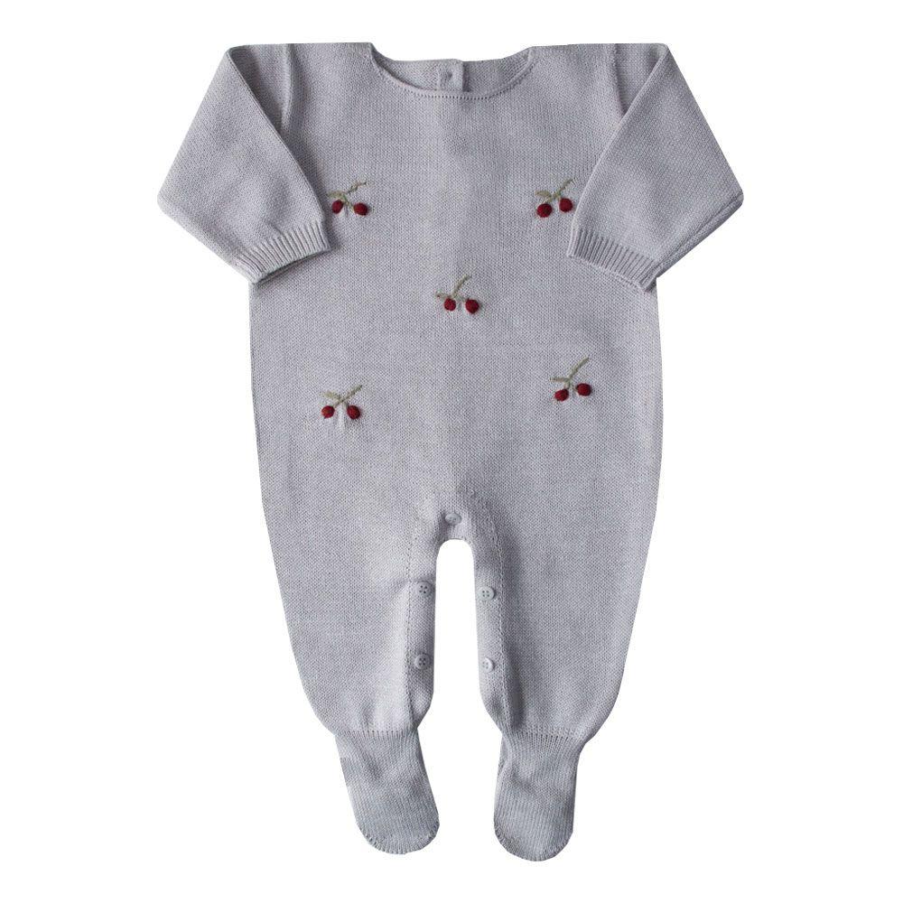Macacão bebê cerejinha - Gelo