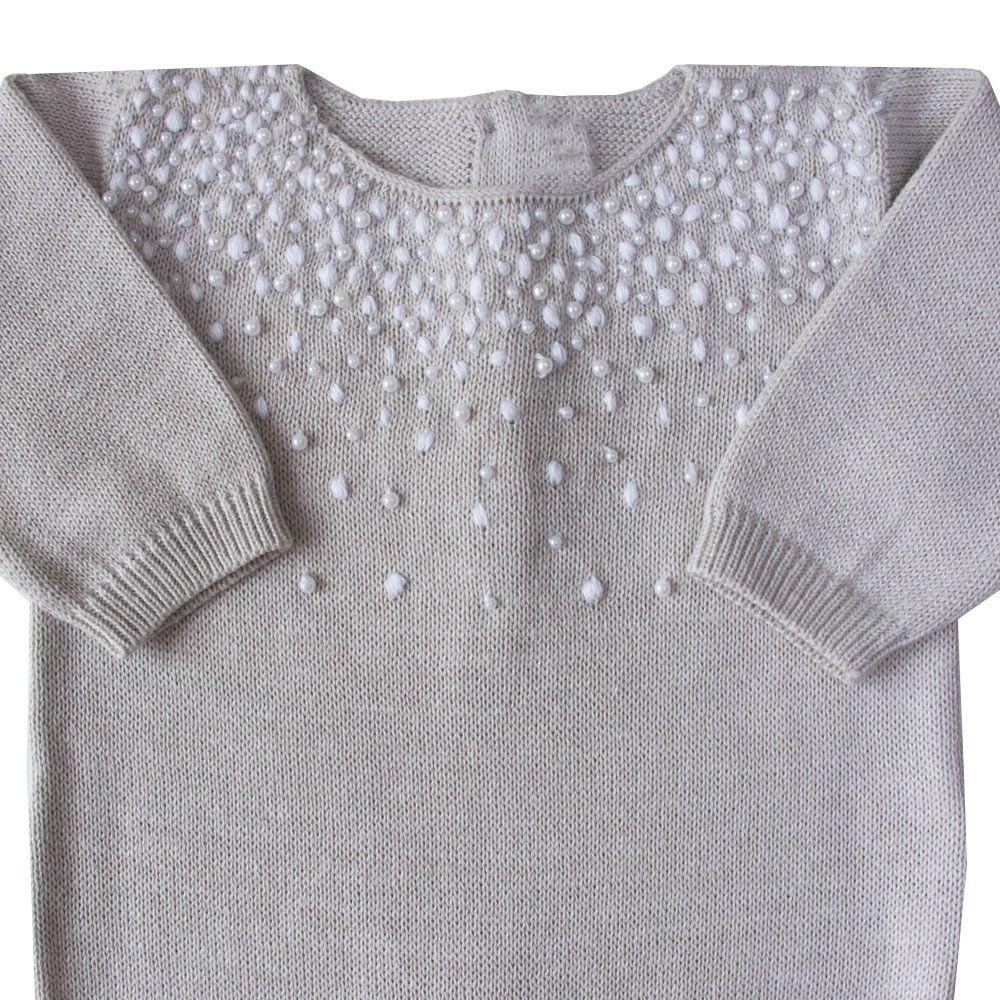 Macacão bebê chuva de prata - Gelo