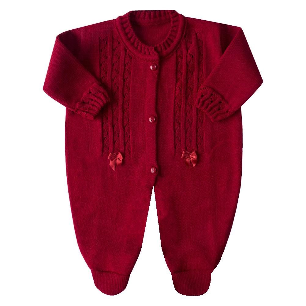 Macacão bebê com laço - Vemelho red nigth