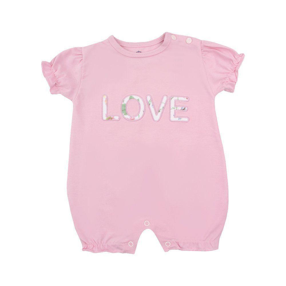 Macaquinho bebê love - Rosa