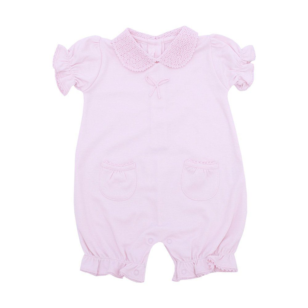 Macacão bebê curto - Rosa bebê
