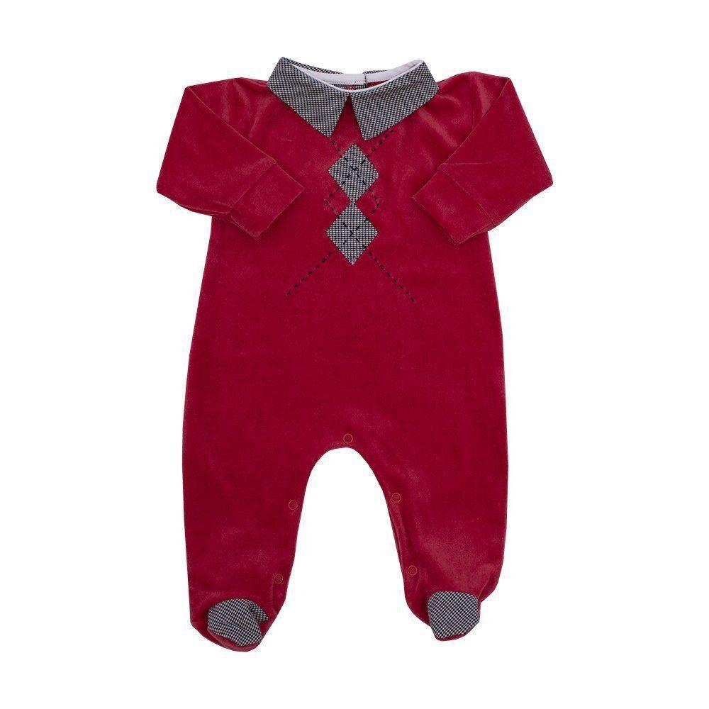 Macacão bebê de plush - Vermelho