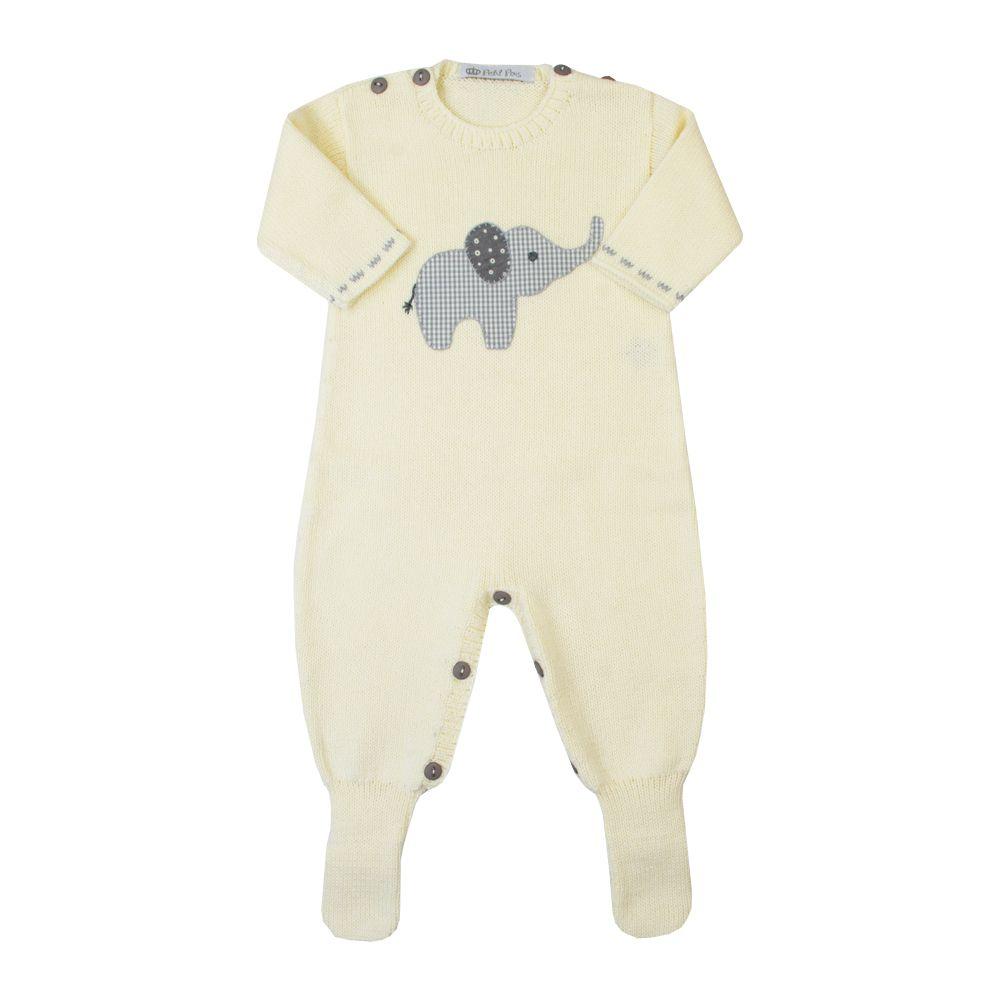 Macacão bebê elefante 2 - Amarelo bebê