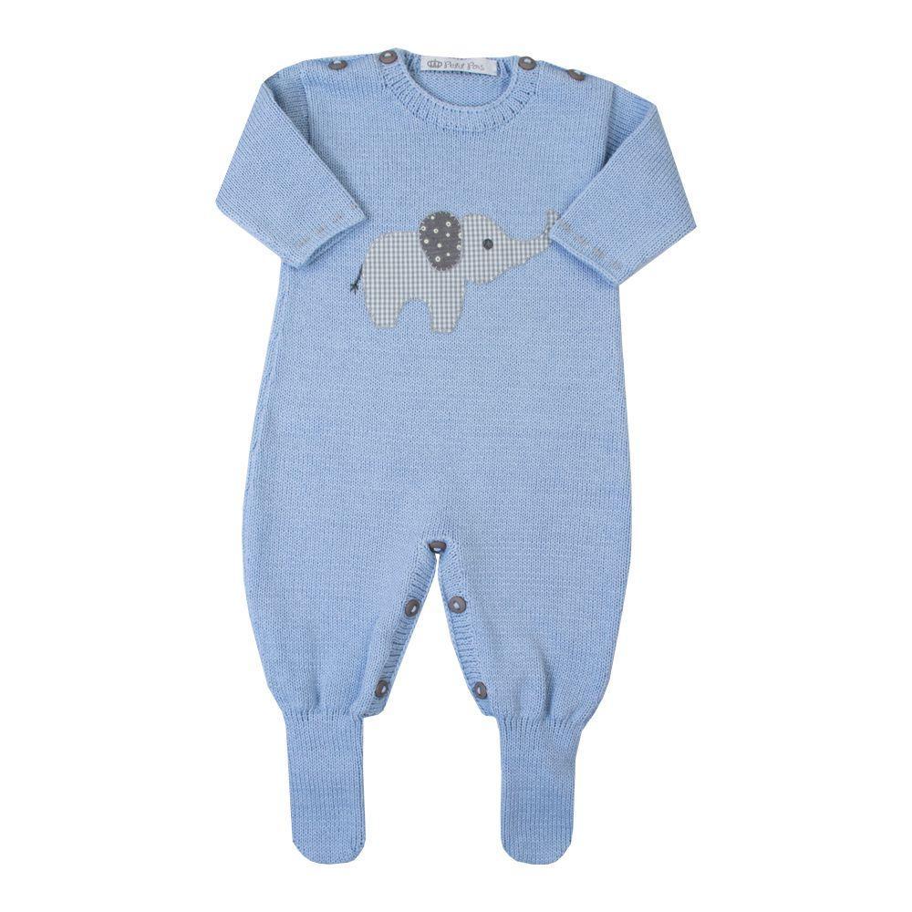 Macacão bebê elefante 2 - Azul bebê