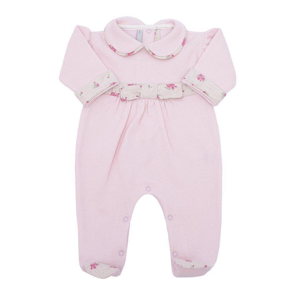 Macacão bebê feminino - Rosa bebê