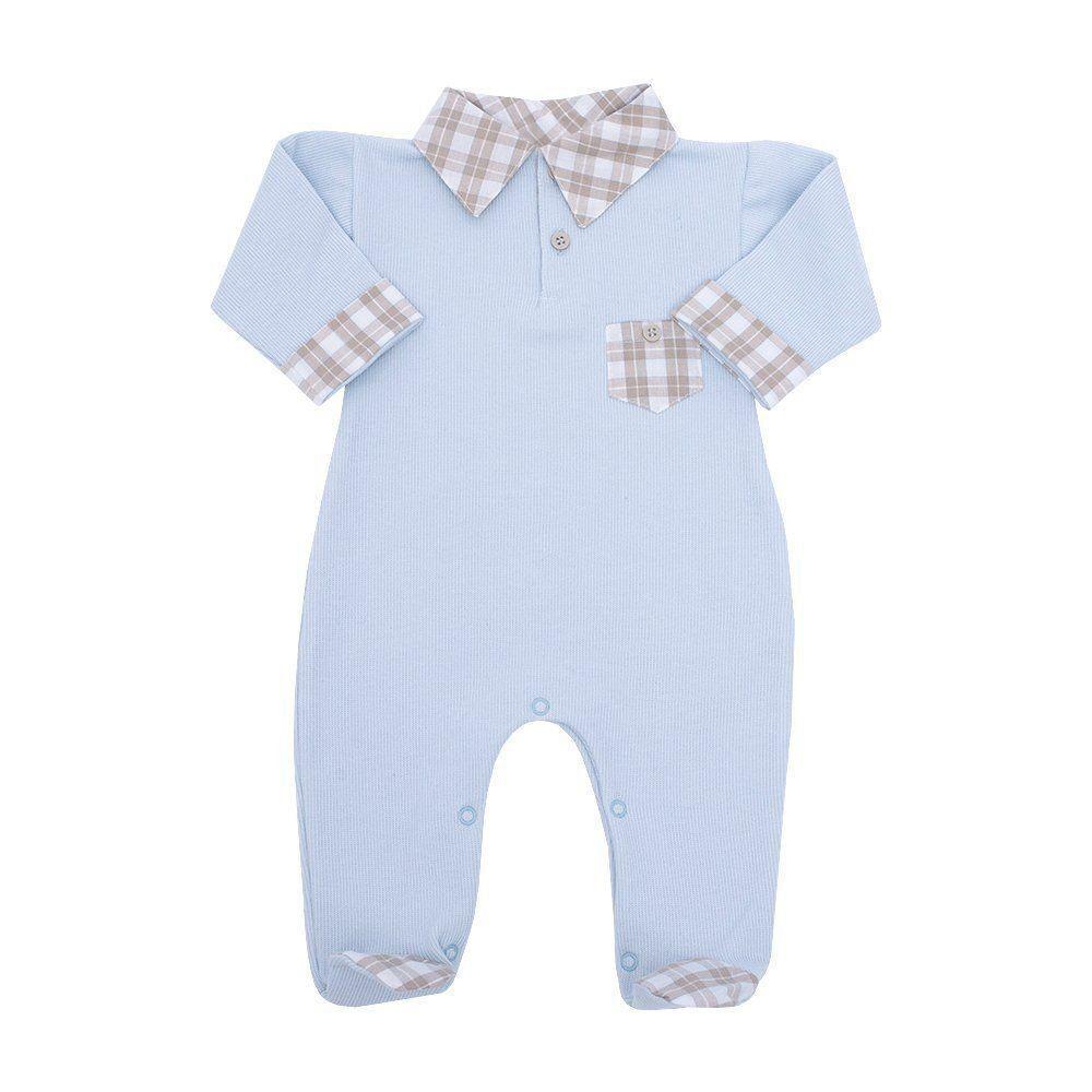 Macacão bebê masculino - Azul pó