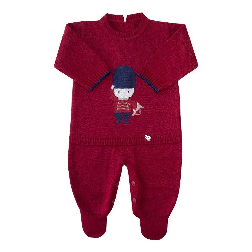 Macacão bebê soldadinho - Vermelho