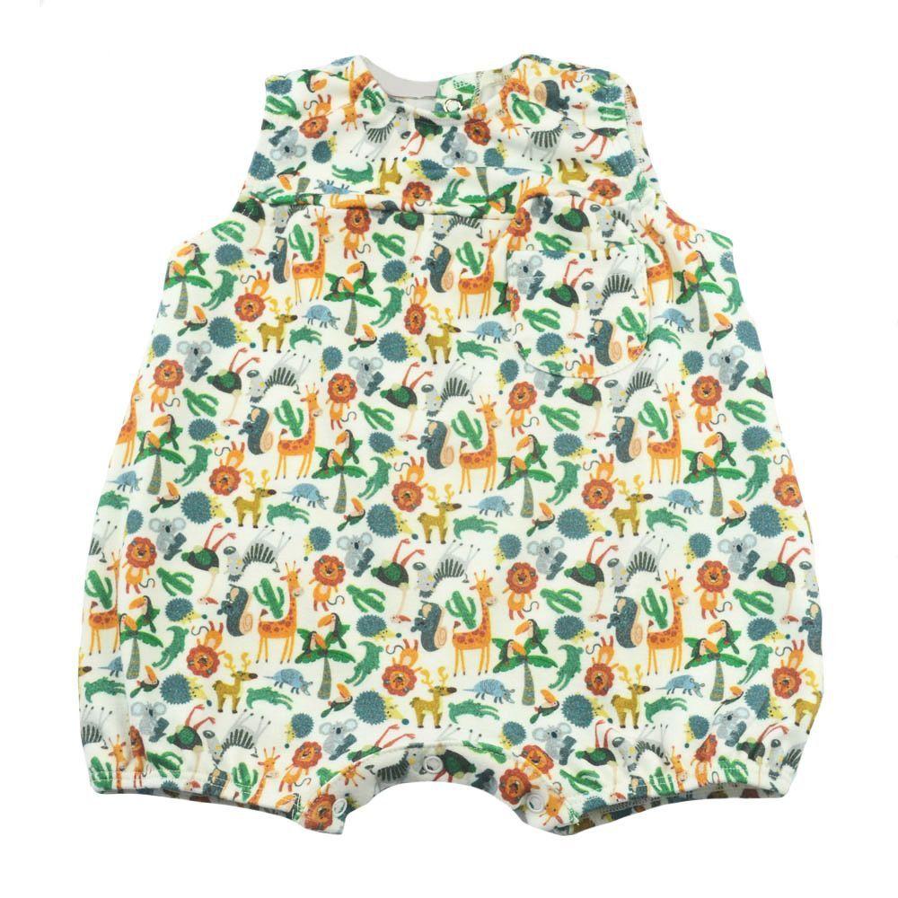 Macacão bebê curto - Marfim