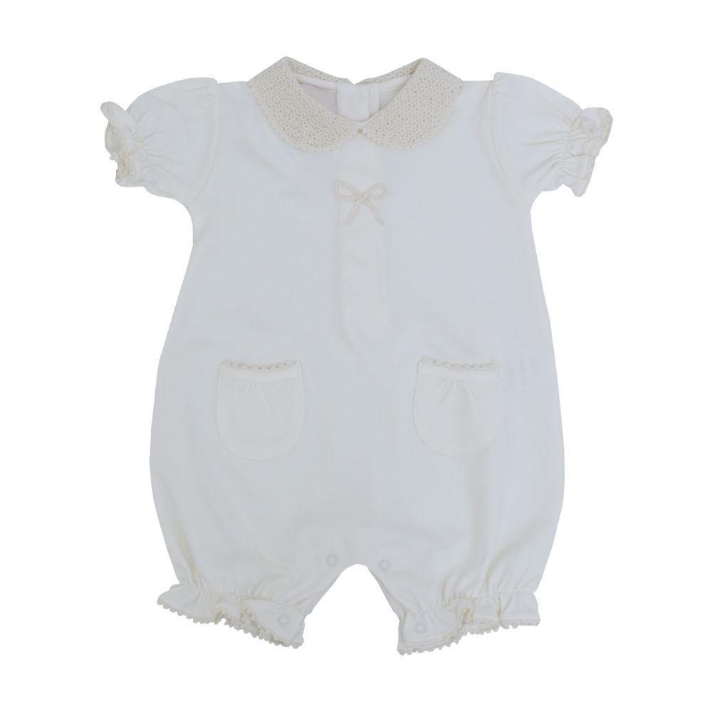 Macacão bebê - Marfim
