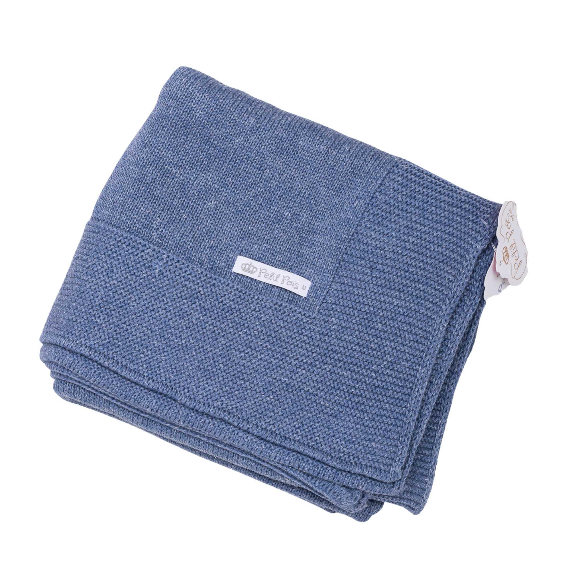 Manta bebê lisa - Jeans