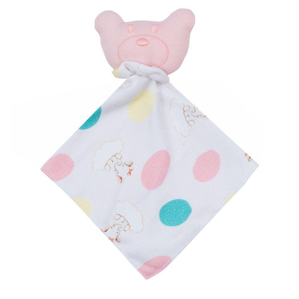 Naninha bebê elefantinho - Branco e rosa