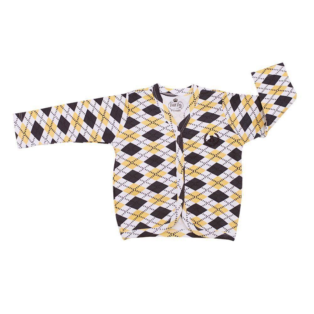Pijama bebê com casaco e calça - Branco