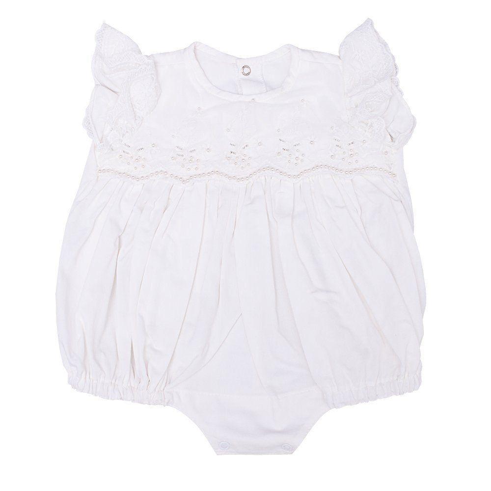 Pimpão bebê bordado - Marfim